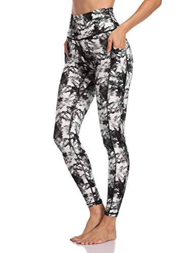 Colorfulkoala Women's High Waisted Yoga Pants 7/8 Length Leggings with Pockets (S, Steel Blue)