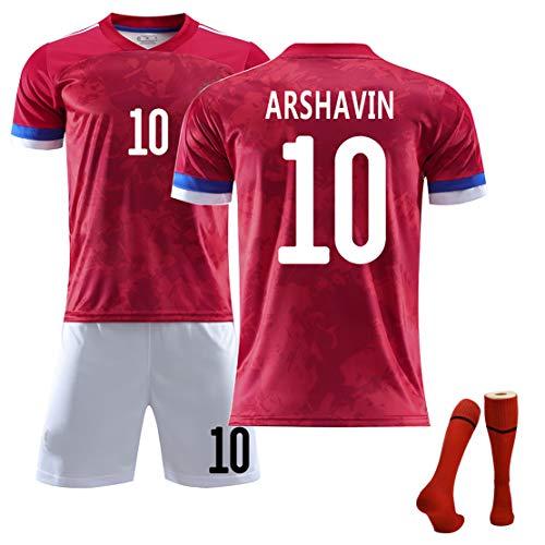 Uniforme de fútbol para Hombres/niños, Arshavin10, Copa de Europa 2020, Nueva casa, Camiseta de fútbol del Equipo Nacional Ruso, Kit de Valor de Traje de fútbol, Cuerpo en Forma n