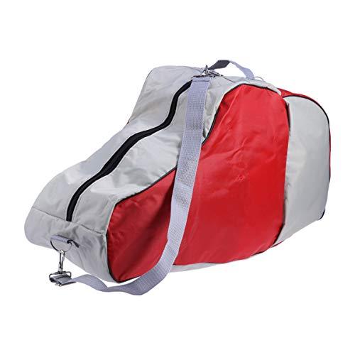 Abaodam EIS Skate Tasche Heavy Duty Oxford Stoff Rollschuh Trage Tasche Skates Tote Tasche mit Verstellbarem Schulter Gurt für Skating Skifahren Zubehör Rot