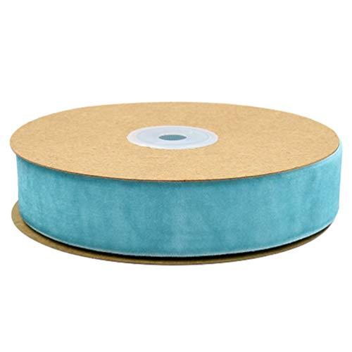 HEALLILY 1 Rouleau de Papier Cadeau Ruban Vêtements Ruban Tissu Ruban Bande pour Emballage Cadeau Fête Danniversaire Décoration (2. 5 Cm Bleu)