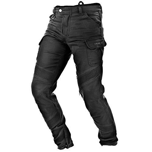 SHIMA GIRO BLACK, Motorrad Herren Cargo-Hose mit Protektoren (Schwarz, 34)