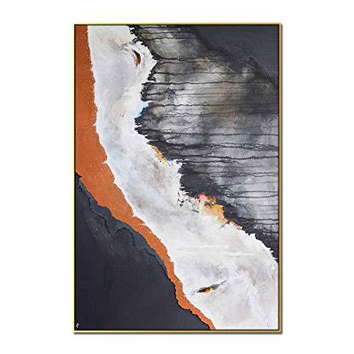 MJ-Wall Painting Pintura al óleo Abstracta Moderna: Moda Simple romántica Abstracta, Adecuada para el Uso del Comedor del Dormitorio de la Pared del sofá