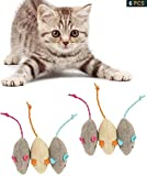 Dusenly 6 pieces of catnip cat toy plush mouse cat toy lifelike fat cat plush simulation realistic mouse toy