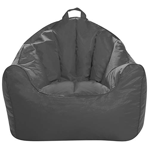 Posh creations structured comfy bean bag chair for gaming, reading,...