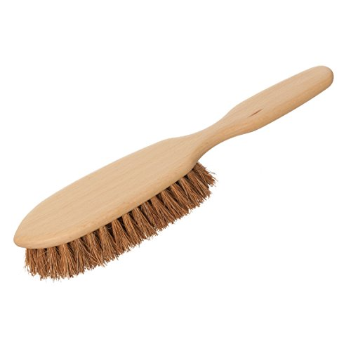Redecker Coconut Fiber Carpet and Floor Mat Brush with Oiled Beechwood Handle, 11-1/4-Inches