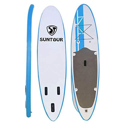 Tabla De Surf Inflable Sup Inflable Stand Up Paddle Board Package con 5 Piezas Accesorios, 305cm 320cm Longitud, Negro, Azul Estable (Color : Blue, Size : 320x80x15cm)
