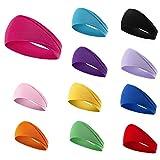 Girzzur fashion headbands for women-(12Pack) cloth hair bands yoga running headbands for women nonslip of wide boho headband