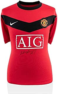 Wayne Rooney Autographed Jersey - Front 2009 10 Manchester Shirt - Autographed Soccer Jerseys