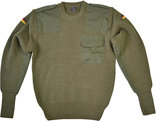 normani Bundeswehr Pullover mit Brusttasche nach TL der BW Farbe Oliv Größe 52