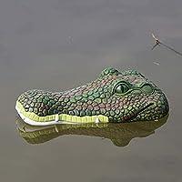 ホームヤードの装飾彫刻園の屋外の装飾彫刻彫刻園の浮か草の置物浮か石の植物の浮き彫りのクリーンの頭の庭の飾りプール池動物彫刻置物 (色 : E+crocodile)