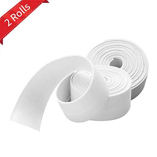 Selbstklebende Dichtband,Wasserdichtes klebeband,Auf die küche/toilette/badezimmer in der ecke.Verhindert, dass Feuchtigkeit und verhindert Schimmel-2 Rollen (Weiß)