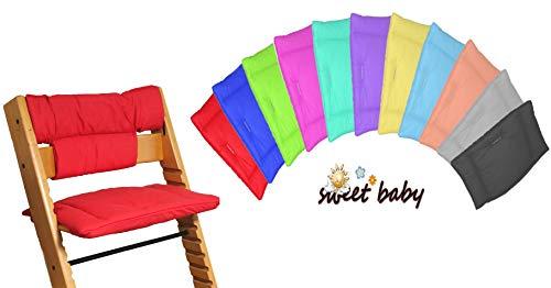 Little Sweetz TRIPP TRAPP Set UNI COLORS ** Zitkussen/stoelverkleiner voor hoge stoel - compatibel met Tray Table - veel motieven! paars