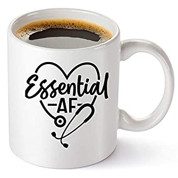 Essential AF Coffee Mug - Great Doctor And Nurse Gifts For Women And Men - Cute And Funny Coffee Cup For Nurse Practitioners Best Friend Or Sister