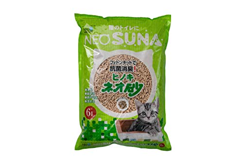 ネオ・ルーライフ 猫砂 ネオ砂ヒノキ 6リットル (x 1)