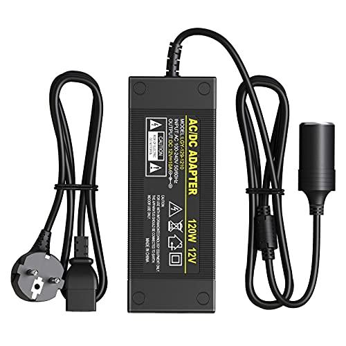 Netzteil Adapter 12V 10A 120W Ladegerät Spannungswandler für Ladegerät AC Netzteil für LCD TFT Bildschirm Monitor/Zigarettenanzünder Netz-Adapter KFZ-Ladeadapter