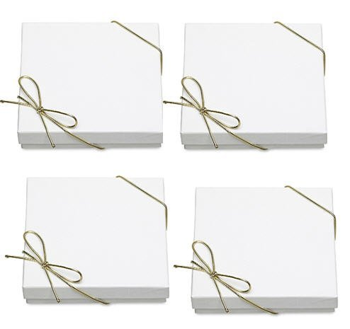 10pack Bracelet Jewelry Gift Boxes with Filler and Bow Strings
