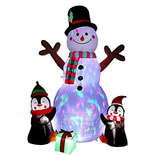 NZXVSE Bonhomme de neige gonflable de Noël de 1,8 m avec lumières LED intégrées pour décoration de Noël en extérieur ou en intérieur