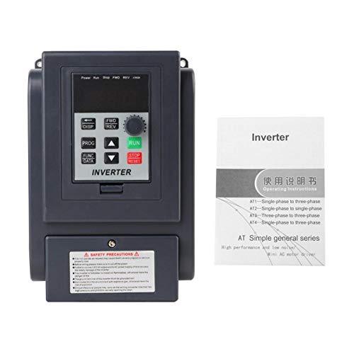 Inversor de variador de frecuencia, 1 fase 220 V Entrada trifásica 380 V Salida 1,5 KW VFD Controlador de velocidad del inversor de frecuencia variable