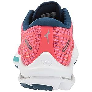 Mizuno Women's Wave Rider 25 Running Shoe, Cayenne-Phlox Pink, 8