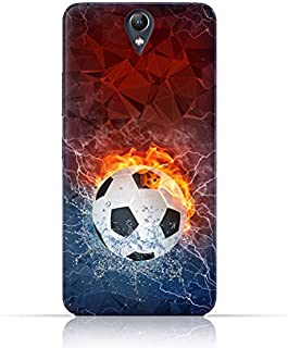 Lenovo Vibe S1 TPU Silicone Case with Football On Flame Design