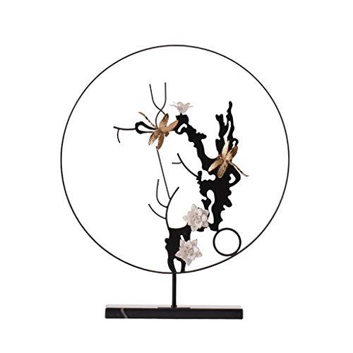 BHGJHKL Nueva decoración Zen China, decoración de Muebles para el hogar, aparador de Entrada de libélula, gabinete Creativo, Sala de Estar, decoración Suave, decoración de Metal