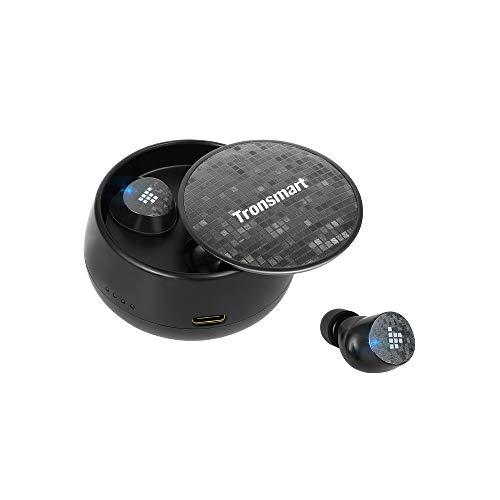 Tronsmart Spunky Pro Auriculares Bluetooth 5.0, Control Tactil, 18h Reproducción, 2 Meses Tiempo de Espera, TWS, IPX5 Impermeable, Sonido Estéreo, con Mini Caja de Carga Inalambricos, Asistente de Voz