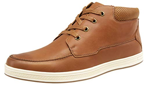 JOUSEN Men's Casual Shoes Brown High Top Fashion Sneaker Lightweight Men Boots Shoes (65971 Brown 10.5)