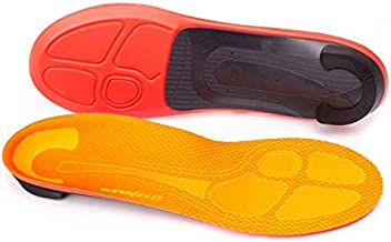 Superfeet Run Professional-Grade Orthotic Inserts Pain Relief Insoles for Running Shoes, Unisex, Tangerine, 11.5-13 Men / 12.5-14 Women