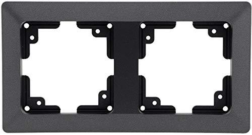 MILOS 2-fach Rahmen I Mehrfach-Rahmen für Steckdosen Schalter und Komponenten I Anthrazit