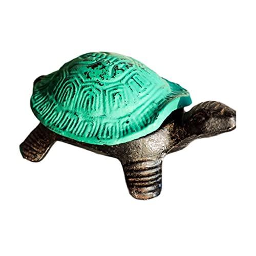 LMG cenicero Ashtray Classic Creative Nostálgico Conchas de Hierro Fundido Completo Cenicero Personalidad con la Tapa de cenicero Decoración del hogar Cenicero para Fumadores (Color : Green)