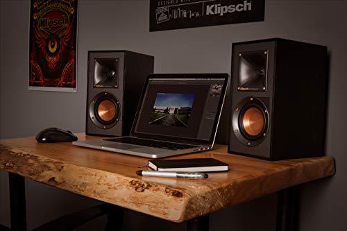 Klipsch R-41PM Lautsprecherset 70 W Schwarz - Lautsprechersets (70 W, Universal, Schwarz, 140 W, MDF, Drehregler)