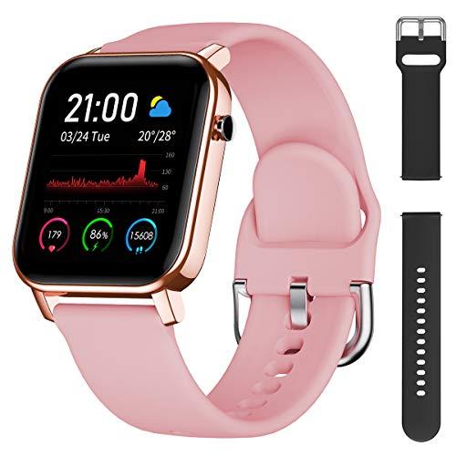 Smartwatch Orologio Intelligente Fitness Activity Tracker, Impermeabile IP68 con cardiofrequenzimetro, nuoto, notifiche,calorie,contapassi Orologio Sportivo per Android iOS per Uomo Donna Bambini