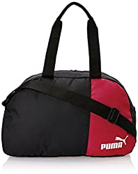 Puma Black and Puma Red Polyester Messenger Bag (7291001),Puma,7291001