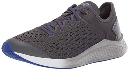 New Balance Kids' Fast V1 Fresh Foam Running Shoe, Magnet/UV Blue, 1 M US Little Kid