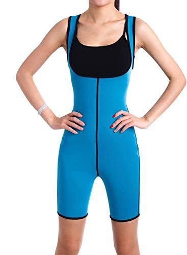 LOSRLY Bodybuilding Shaper Slim Weste mit Taillen-Trainingsgürtel Gr. 43624, blau