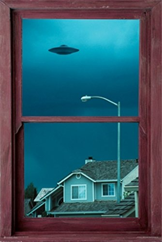 UFO Window Poster 24 x 36in