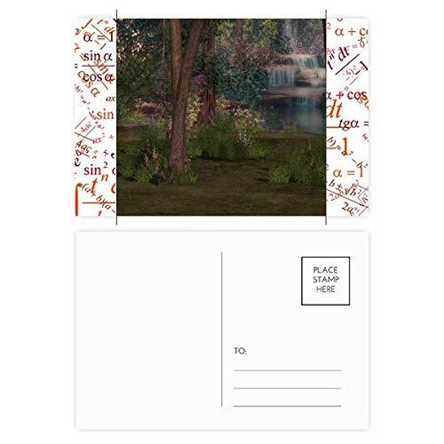 DIYthinker Stream Forstwissenschaften Natur-Landschaft Formel Postkartenset dankt Karte Mailing Side 20pcs 5.7 Zoll x 3.8 Zoll Mehrfarbig