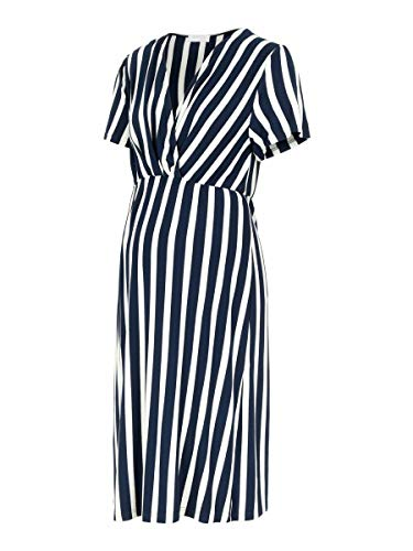 MAMALICIOUS Damen MLNEWBECKY TESS S/S Jersey ABK Dress NF, Navy Blazer, M