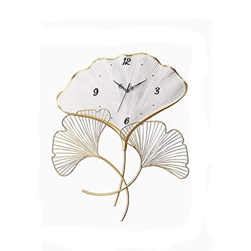 SMEJS Chino Ginkgo Wall Clock Light Light Reloj de Moda Personaje Individual Arte contratado Reloj Creativo