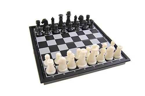 Quantum Abacus Magnetisches Brettspiel (Super Mini Reise-Edition): Schach - magnetische Spielsteine, Spielbrett zusammenklappbar, 13cm x 13cm x 1, 2cm, Mod. SC5277 (DE)