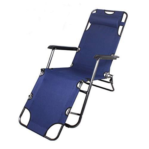 Campingstol Reclining Garden Chair Beach Sun Lounger Recliner stolar i väderbeständig, 178 * 62 * 30, tibetansk blå Strand Stol
