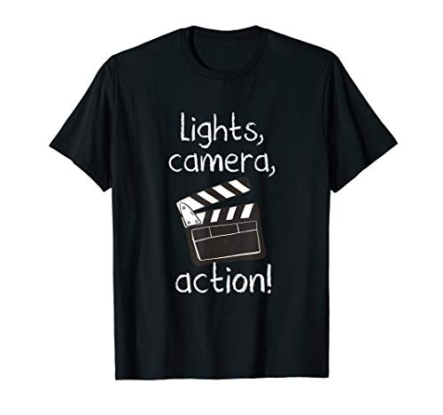 Lights Camera Action Movie Director Movie Clapper Board Gift T-Shirt