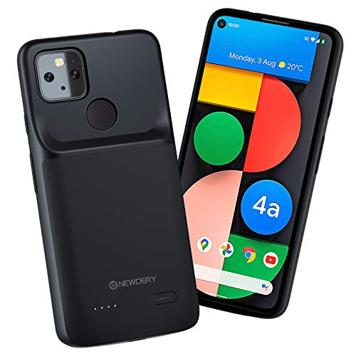 NEWDERY Battery Case for Google Pixel 4a 5G, 4700mAh Slim Portable Protective Extended Charging Case with Full Edge Protection, Rechargeable Battery Charger Case for Pixel 4a 5G