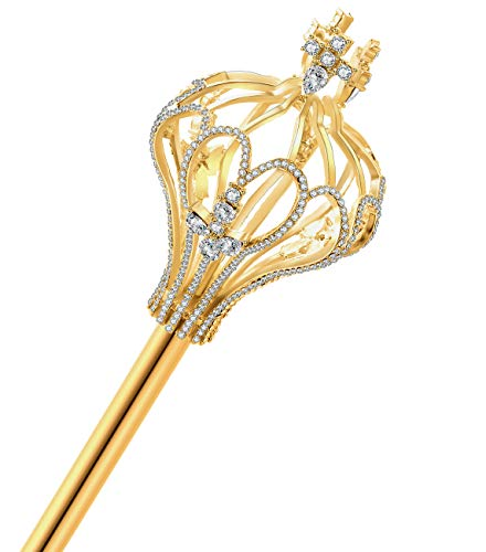 JamingHG Royal Cross Christmas Scepter Magic Party Wand Pageant (Gold)