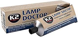 K2 Lamp Doctor Headlight Cleaner Paste Removes Scratches Haze Cloudiness Discoloration & Yellowing from Headlights Taillights Fog Lights Boat Lights Various Camper or Plane Windows