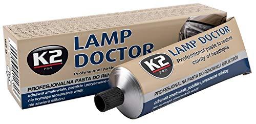 K2 Lampen Doctor, Scheinwerfer Aufbereitung, repariert zerkratztes Glas, Schleifpaste, Acryl Plexiglas Reparatur, Headlight Restoration - lässt trübe Scheinwerfer wieder scheinen