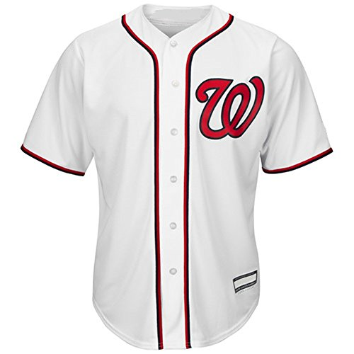 Outerstuff Max Scherzer Washington Nationals #31 Youth Cool Base Home Jersey White (Youth Small 8)
