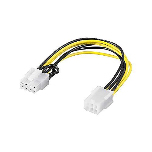 Goobay 93635 Cavo Elettrico/Adattatore per Schede Grafiche PC, PCI-E/PCI Express, da 6 pin a 8 pin