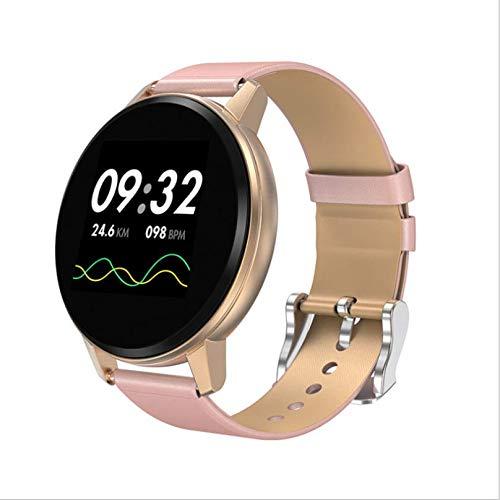 Bracelet smart rose écran tactile complet rond étanche fréquence cardiaque alarme à distance photo musique longue siège