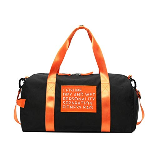 JJSFJH Gym Bag Sports Gym Duffel Bag con Zapatos Compartimiento Travel Weekender Bag for Hombres, Mujeres